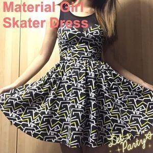Material Girl | Neon Pattern Skater Dress
